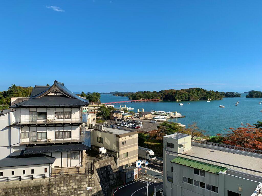 展望台から望む福浦橋