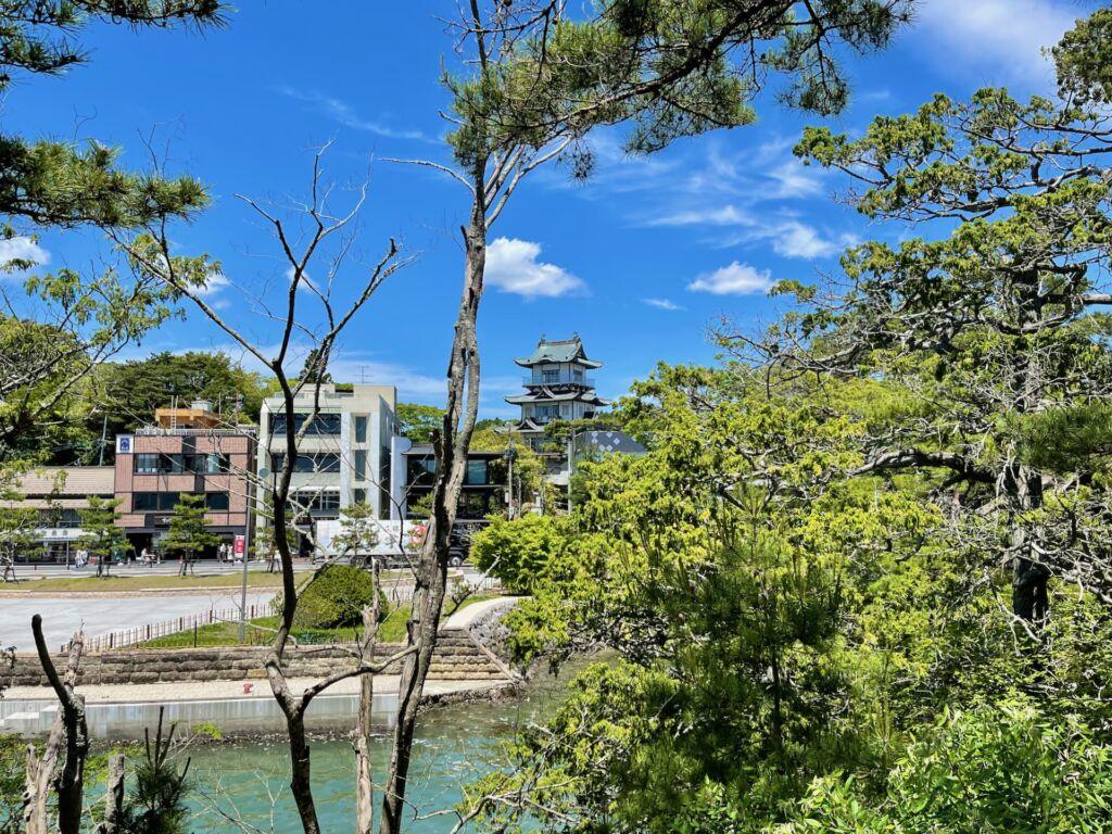 松島城 遠景