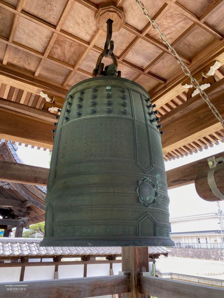 伝来寺の梵鐘