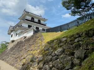 馬場跡から見た三階櫓