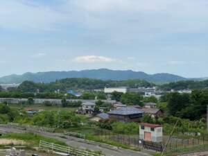 愛宕山から望む白石城
