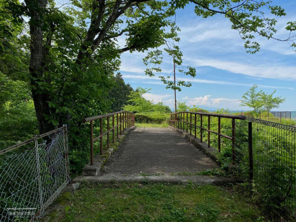 天王寺館 堀切にかかる橋