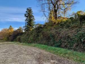 北東側の堀と懸崖