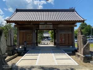 長泉寺に移築された臥牛門