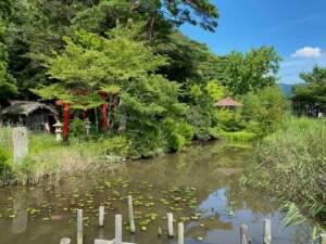 三島池と岩駒稲荷