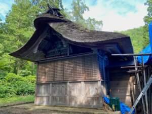 県指定有形文化財 八幡神社本殿