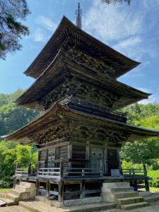 県指定有形文化財 八幡神社三重塔