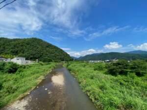 八幡橋から見る屋代川