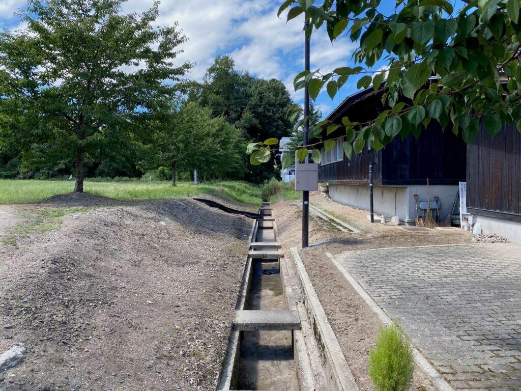 主郭北側の堀跡