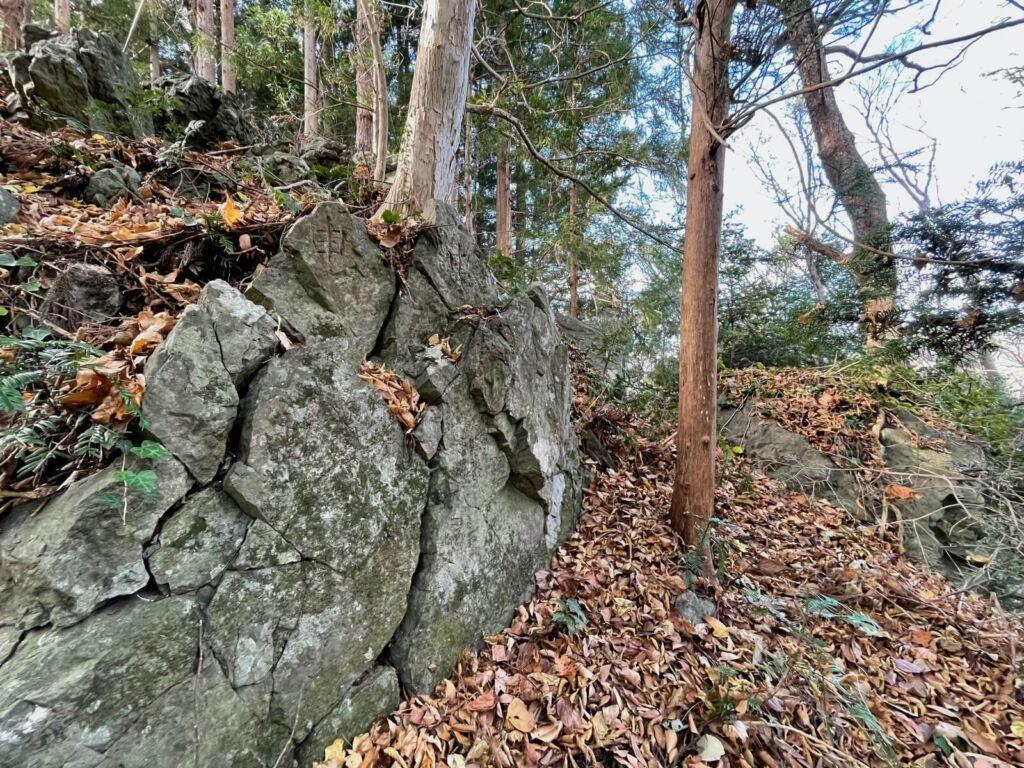 北東にある巨岩