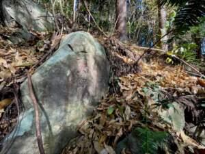 巨岩に刻まれた庚申
