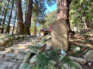 高蔵寺の大杉と己需供養碑