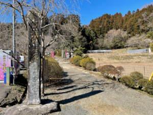 参道入口と寺標